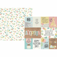Simple Stories - Oh Baby Adoption Collection - 12 x 12 Double Sided Paper - 3 x 4 and 4 x 6 Elements