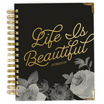 Simple Stories - Carpe Diem - Beautiful Collection - 17 Month Weekly Spiral Planner with Gold Foil Accents - Aug. 2018 to Dec. 2019