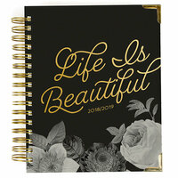 Carpe Diem - Beautiful Collection - 17 Month Weekly Spiral Planner with Gold Foil Accents - Aug. 2018 to Dec. 2019