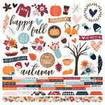Simple Stories - Forever Fall Collection - 12 x 12 Cardstock Stickers - Combo
