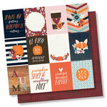 Simple Stories - Forever Fall Collection - 12 x 12 Double Sided Paper - 3 x 4 Elements
