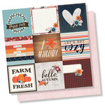 Simple Stories - Forever Fall Collection - 12 x 12 Double Sided Paper - 4 x 4 Elements