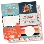 Simple Stories - Forever Fall Collection - 12 x 12 Double Sided Paper - 4 x 6 Horizontal Elements