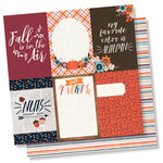 Simple Stories - Forever Fall Collection - 12 x 12 Double Sided Paper - 4 x 6 Vertical Elements