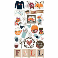 Simple Stories - Forever Fall Collection - Chipboard Stickers