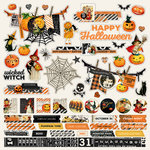 Simple Stories - Simple Vintage Halloween Collection - 12 x 12 Cardstock Stickers - Combo