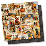 Simple Stories - Simple Vintage Halloween Collection - 12 x 12 Double Sided Paper - Pumpkin Time
