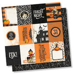 Simple Stories - Simple Vintage Halloween Collection - 12 x 12 Double Sided Paper - 3 x 4 Elements