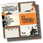 Simple Stories - Simple Vintage Halloween Collection - 12 x 12 Double Sided Paper - 4 x 6 Horizontal Elements