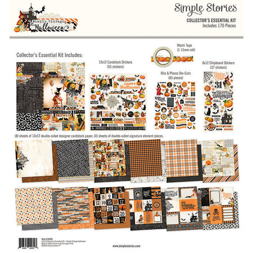 Simple Stories - Simple Vintage Halloween Collection - 12 x 12 Collector's Essential Kit