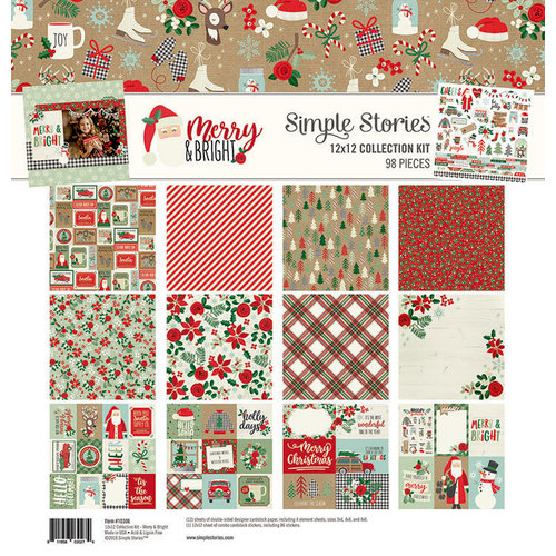 Simple Stories - Merry and Bright Collection - Christmas - 12 x 12 Collection Kit