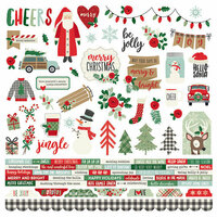 Simple Stories - Merry and Bright Collection - Christmas - 12 x 12 Cardstock Stickers - Combo