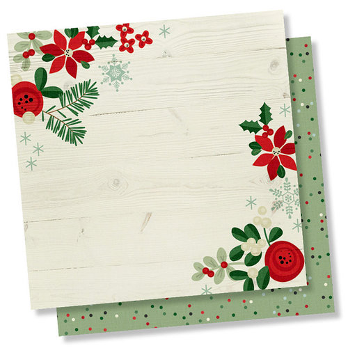Simple Stories - Merry and Bright Collection - Christmas - 12 x 12 Double Sided Paper - Holiday Memories