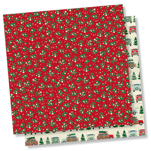 Simple Stories - Merry and Bright Collection - Christmas - 12 x 12 Double Sided Paper - It's a Wonderful Life