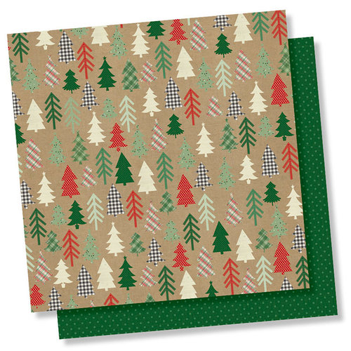 Simple Stories - Merry and Bright Collection - Christmas - 12 x 12 Double Sided Paper - Hello December