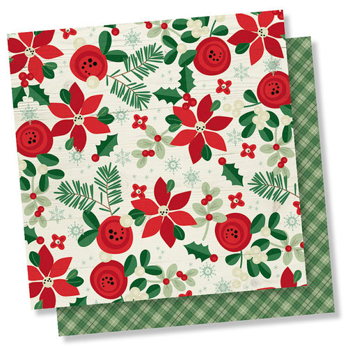 Simple Stories - Merry and Bright Collection - Christmas - 12 x 12 Double Sided Paper - Joy and Happiness
