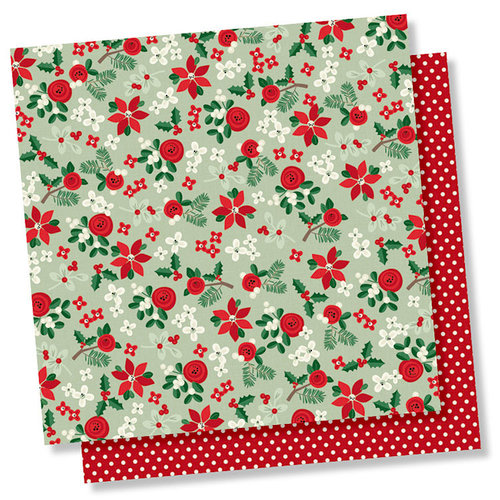 Simple Stories - Merry and Bright Collection - Christmas - 12 x 12 Double Sided Paper - A Simple Wish