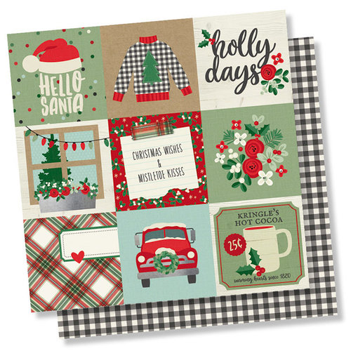 Simple Stories - Merry and Bright Collection - Christmas - 12 x 12 Double Sided Paper - 4 x 4 Elements
