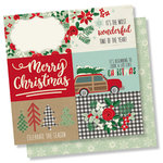 Simple Stories - Merry and Bright Collection - Christmas - 12 x 12 Double Sided Paper - 4 x 6 Horizontal Elements