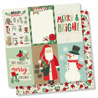Simple Stories - Merry and Bright Collection - Christmas - 12 x 12 Double Sided Paper - 4 x 6 Vertical Elements