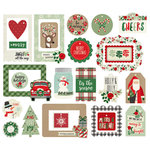 Simple Stories - Merry and Bright Collection - Christmas - Tags and Frames