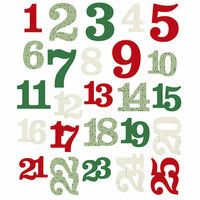 Simple Stories - Merry and Bright Collection - Christmas - Pocket Pieces - Numbers