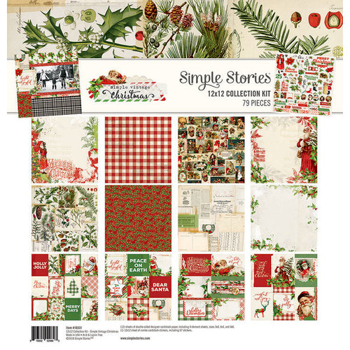 Simple Stories - Simple Vintage Christmas Collection - 12 x 12 Collection Kit