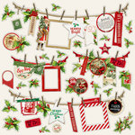 Simple Stories - Simple Vintage Christmas Collection - 12 x 12 Cardstock Stickers - Banners