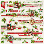Simple Stories - Simple Vintage Christmas Collection - 12 x 12 Cardstock Stickers - Borders