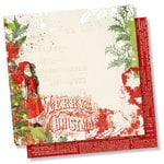 Simple Stories - Simple Vintage Christmas Collection - 12 x 12 Double Sided Paper - Ho Ho Ho