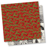Simple Stories - Simple Vintage Christmas Collection - 12 x 12 Double Sided Paper - Deck the Halls