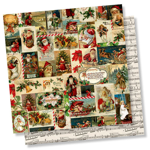Simple Stories - Simple Vintage Christmas Collection - 12 x 12 Double Sided Paper - Jolly Holidays