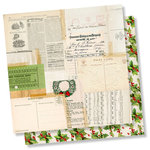 Simple Stories - Simple Vintage Christmas Collection - 12 x 12 Double Sided Paper - Tis the Season