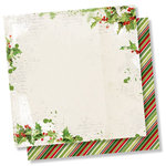 Simple Stories - Simple Vintage Christmas Collection - 12 x 12 Double Sided Paper - Be Merry