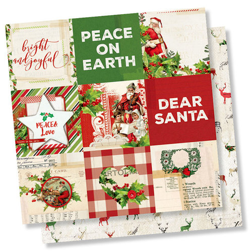 Simple Stories - Simple Vintage Christmas Collection - 12 x 12 Double Sided Paper - 4 x 4 Elements