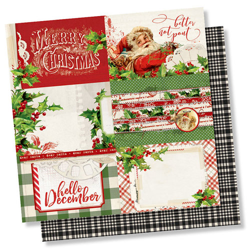 Simple Stories - Simple Vintage Christmas Collection - 12 x 12 Double Sided Paper - 4 x 6 Horizontal Elements