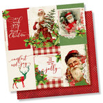 Simple Stories - Simple Vintage Christmas Collection - 12 x 12 Double Sided Paper - 4 x 6 Vertical Elements