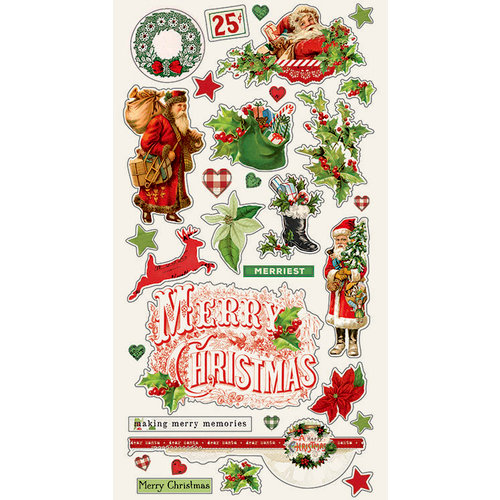 Simple Stories - Simple Vintage Christmas Collection - Chipboard Stickers