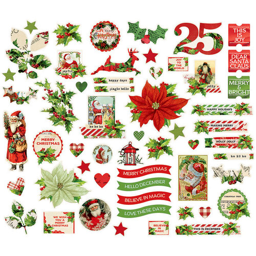 Simple Stories - Simple Vintage Christmas Collection - Bits and Pieces