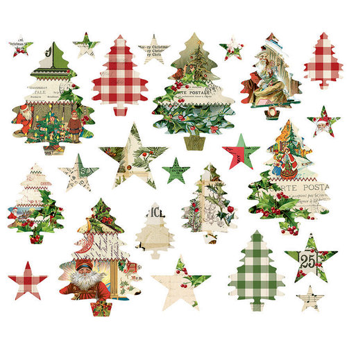 Simple Stories - Simple Vintage Christmas Collection - Trees and Stars