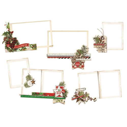 Simple Stories - Simple Vintage Christmas Collection - Layered Frames