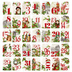 Simple Stories - Simple Vintage Christmas Collection - Number Tags