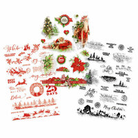 Simple Stories - Simple Vintage Christmas Collection - Clear Stickers