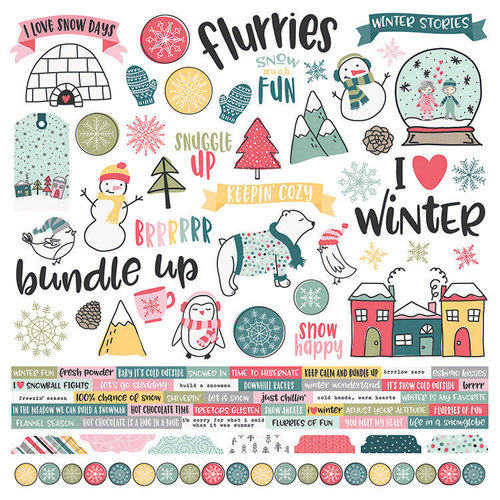 Simple Stories - Freezin' Season Collection - 12 x 12 Cardstock Stickers