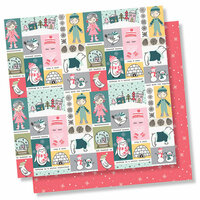 Simple Stories - Freezin' Season Collection - 12 x 12 Double Sided Paper - Frosty Friends