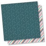 Simple Stories - Freezin' Season Collection - 12 x 12 Double Sided Paper - Shiverin'