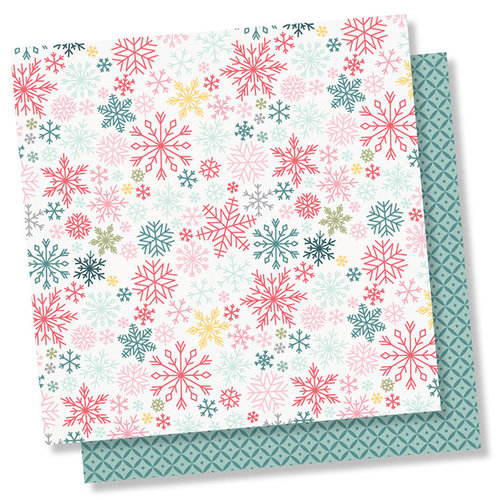 Simple Stories - Freezin' Season Collection - 12 x 12 Double Sided Paper - Flurries
