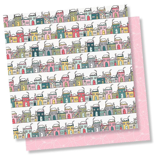 Simple Stories - Freezin' Season Collection - 12 x 12 Double Sided Paper - Hello Winter