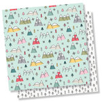 Simple Stories - Freezin' Season Collection - 12 x 12 Double Sided Paper - Snowed In