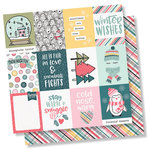 Simple Stories - Freezin' Season Collection - 12 x 12 Double Sided Paper - 3 x 4 Elements